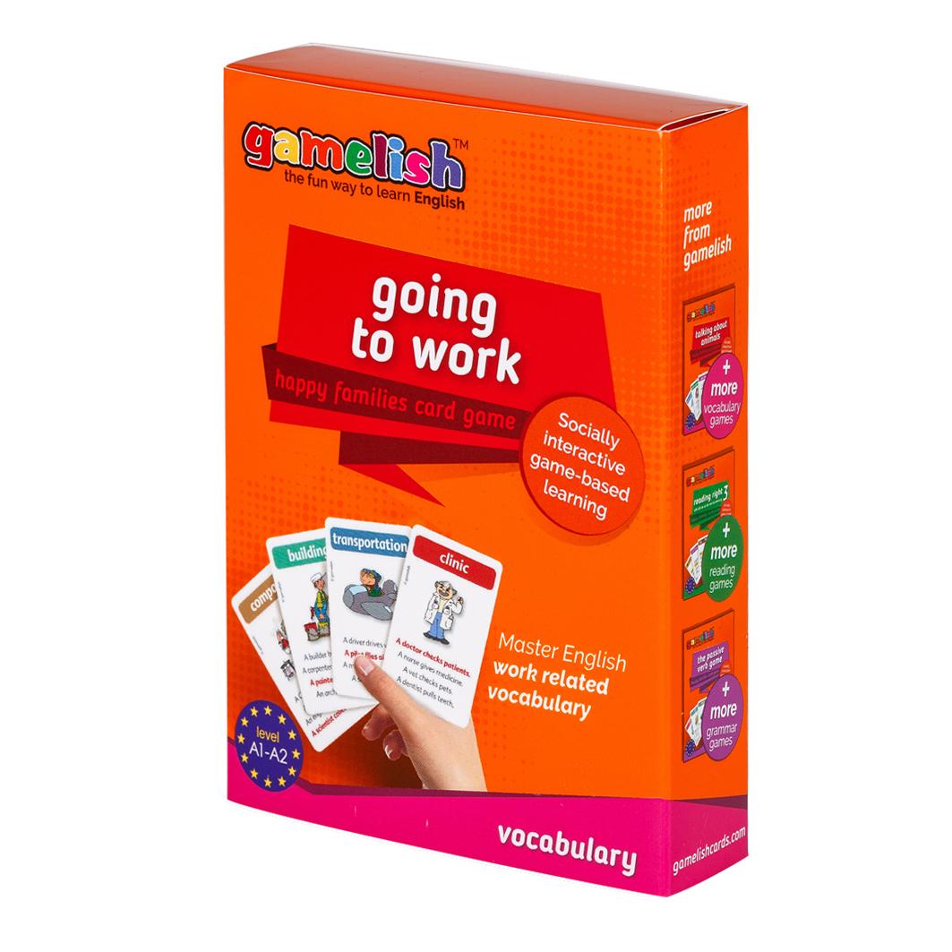משחק רביעיות באנגלית gamelish | הולכים לעבודה  going to work