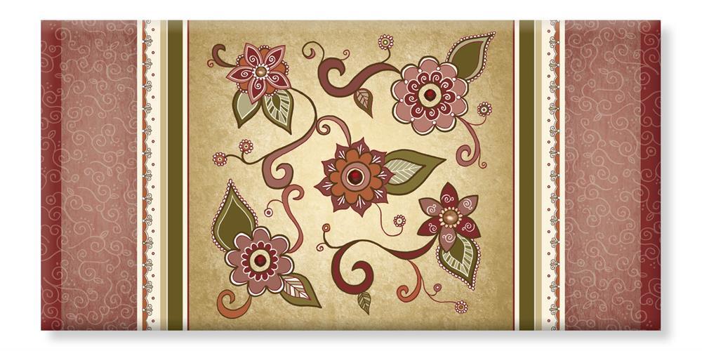 קנבס - פרחים - דוגמא אמנות יודאיקה