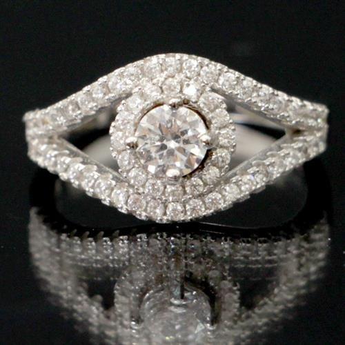 טבעת כסף משובצת זרקונים RG9158