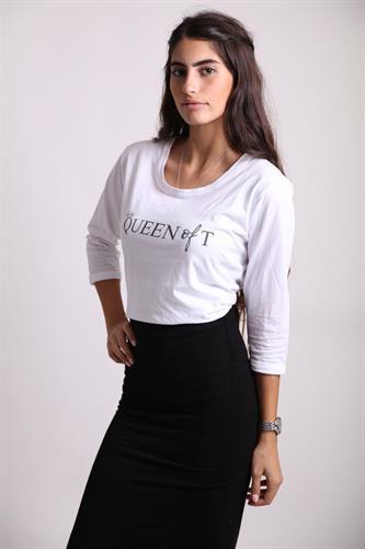 Queen-of-T שרוול 3/4