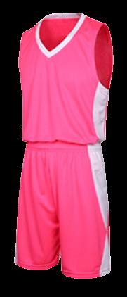 תלבושת כדורסל בעיצוב אישי Pink דגם #6013