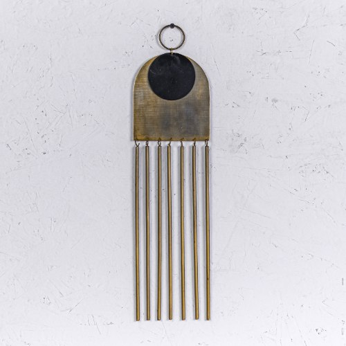 קישוט מתכת לקיר - קשת וצינורות (זהב)