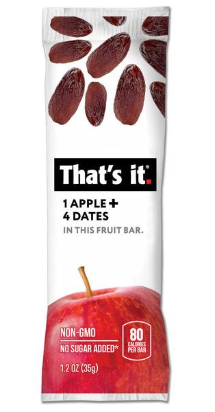 חטיף אנרגיה מפירות בלבד (תפוח תמרים)