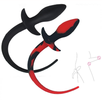 פלאג  אנאלי זנב בצבע שחור או שחור אדום