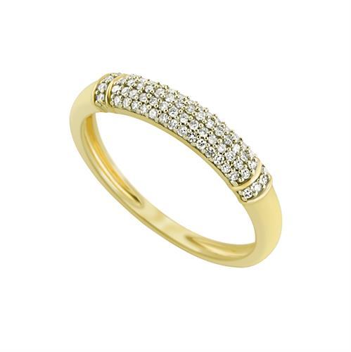 טבעת מיני מקומר משובצת יהלומים בזהב לבן או צהוב 14 קראט