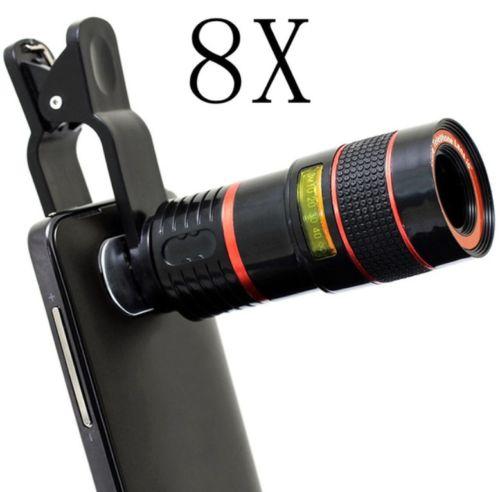 תוסף זום טלסקופי פי x8 אוניברסלי