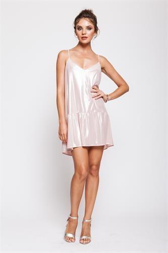 שמלת טרזר ורודה