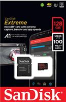 כרטיס זיכרון  Sandisk Extreme Micro SDXC 128GB SDSQXAF-128G V30-128G סנדיסק