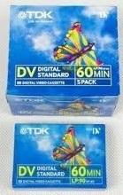3 יחידות קלטות TDK מיני DV  60MIN