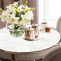 מפת שולחן פיויסי דקורטיבית- שיש לבן ל-שולחנות מעוצבים