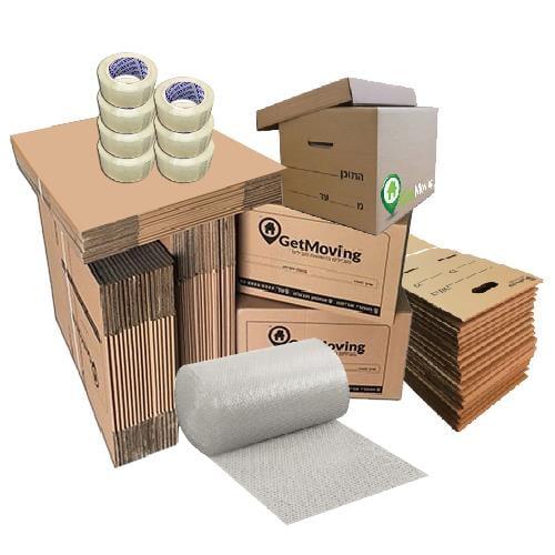 חבילת חומרי אריזה למשרד בינוני