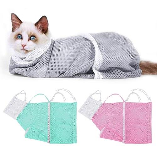 שק ריסון לחתולים למקלחת וטיפוח -3 יחידות