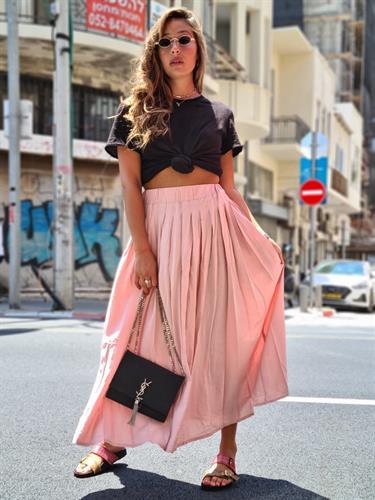 חצאית נשים מקסי ורוד