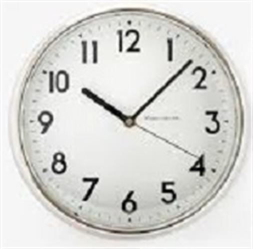 שעון קיר שקט גולף GOLF לבן