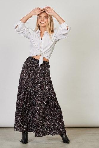 חצאית וולן פרחונית