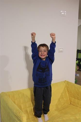 חליפת פוטר לילד -PART TIME SUPER HERO באטמן - מידות 2,4,6,8