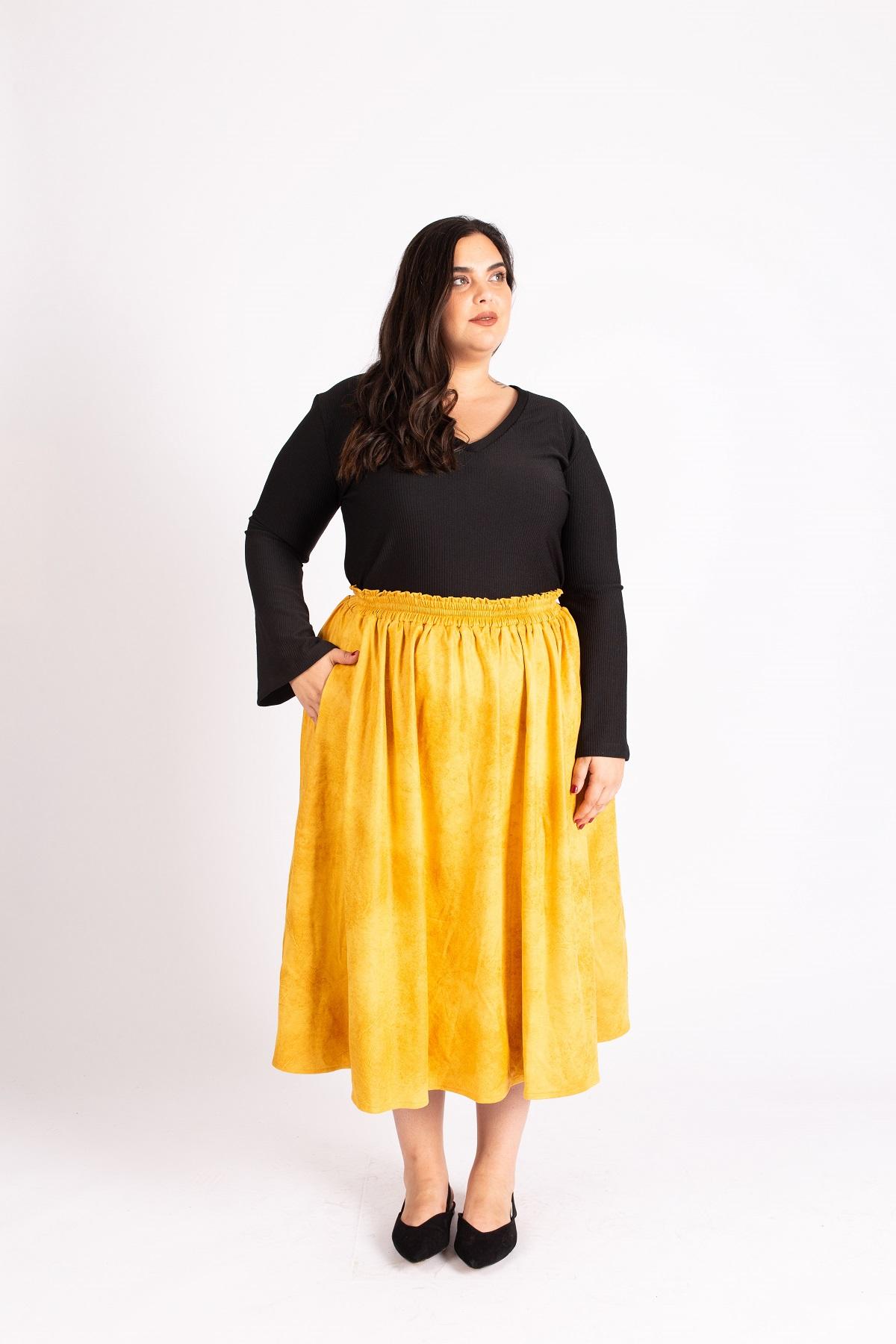 חצאית לורי חרדל
