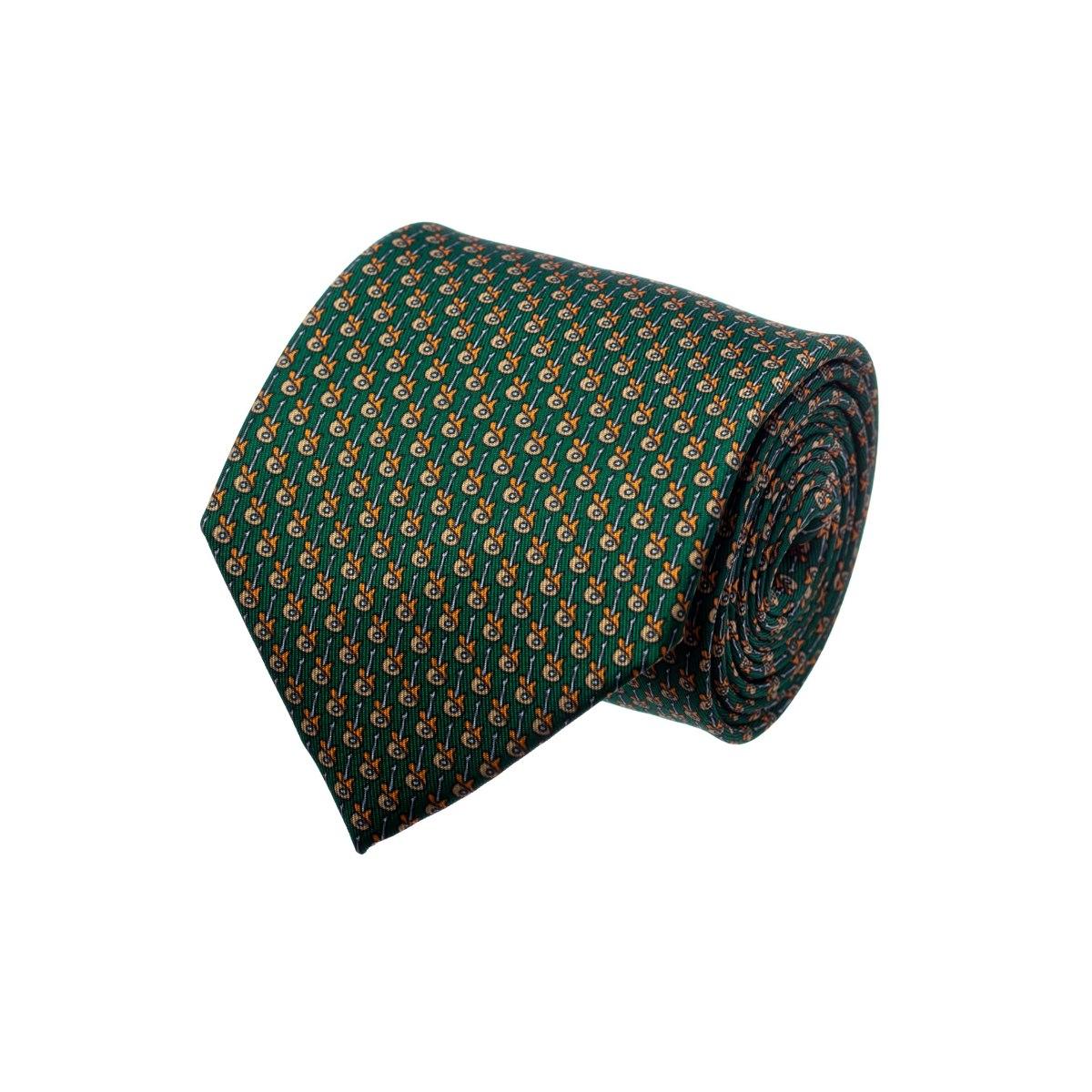 עניבה דגם גיטרה ירוק