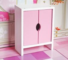 W06A139 - בית בובות לילדים שלוש קומות, בצבעים בהירים כולל ריהוט לבית, צעצועץ