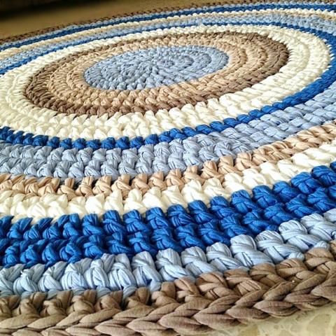 שטיח סרוג, שטיח עגול, שטיח עבודת יד, שטיחים סרוגים,