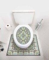 עיצוב איזור האסלה – מדבקה (39 ₪) שטיחון (88 ₪) סט (119 ₪) ויקטוריה TIVA DESIGN