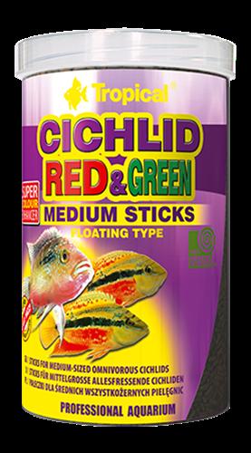 """מזון במבה קטנה לדגים טורפים עם מחזק צבע 1000 מ""""ל (tropical)"""