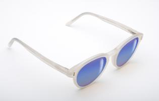 משקפי היפרלייט (נגד קרינה?) דגם  MRBU TLW-107WE מסגרת לבנה עם אפקט המראה