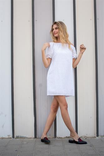 שמלת דונטה לבנה