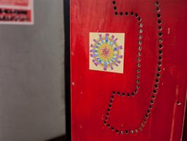 """מגנט אומנותי- מנדלת """"אש"""" - מנדלה מקורית בעבודת יד מודפסת על מגנט"""