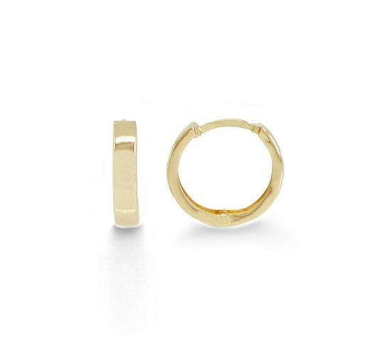 """עגילי חישוק זהב קטנים 1.6 ס""""מ"""
