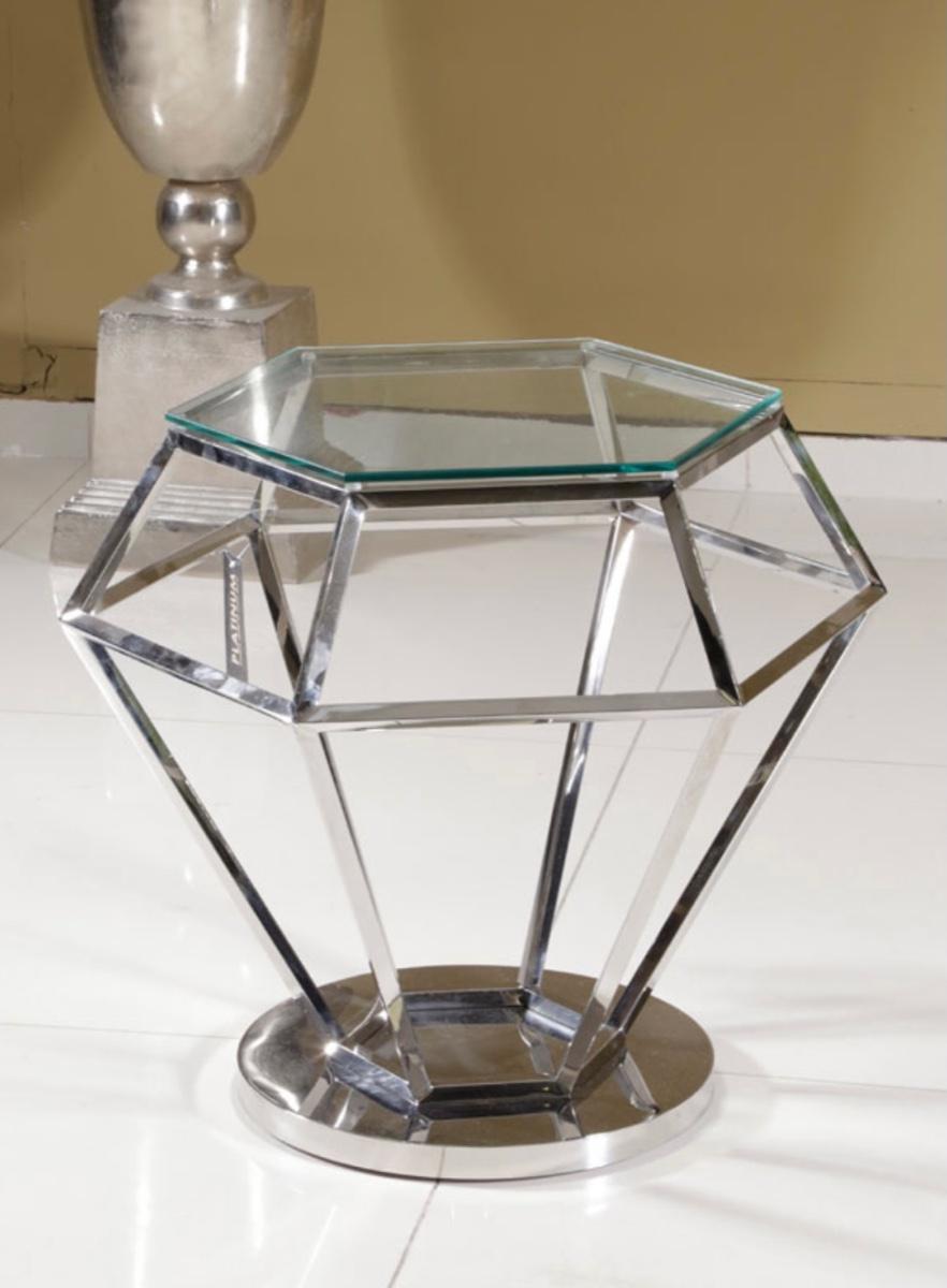 שולחן יהלום זכוכית שקופה