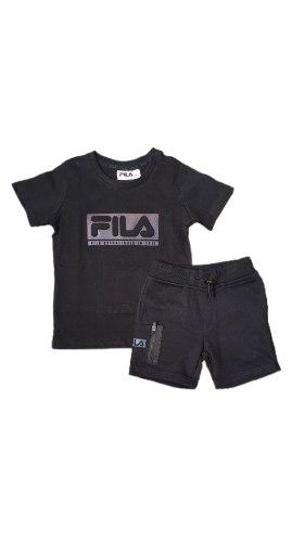 חליפת בנים שחורה כיתוב מובלט (FILA (2-16