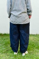 מכנסיים מדגם ג׳וזף עם דוגמה (ז׳קרד) בצבע כחול כהה