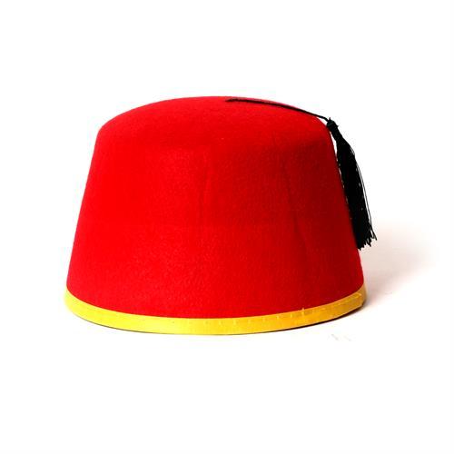 כובע תרבוש אדום נמוך