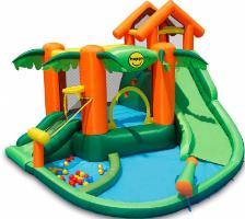 מתקן קפיצה מתנפח רטוב עם מים טרופיקל - Happy Hop - קפיץ קפוץ