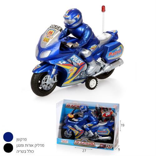 אופנוע משטרה פרקשן+רוכב (מנגן)