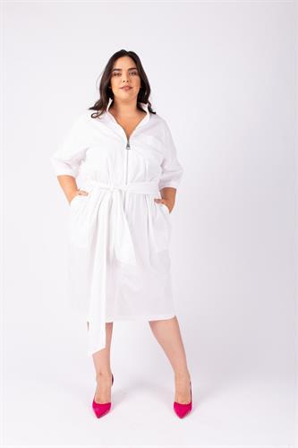 שמלת ג'ואנה לבנה