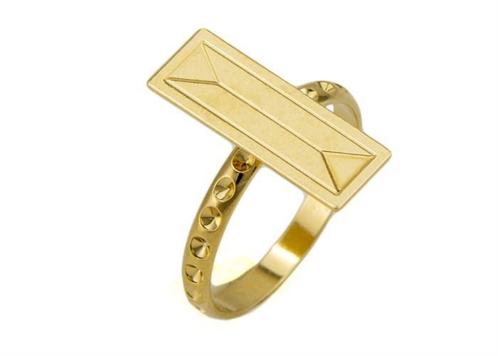 טבעת לורן זהב מבריק