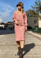 חליפת סריג חצאית דגם קייט ניוד