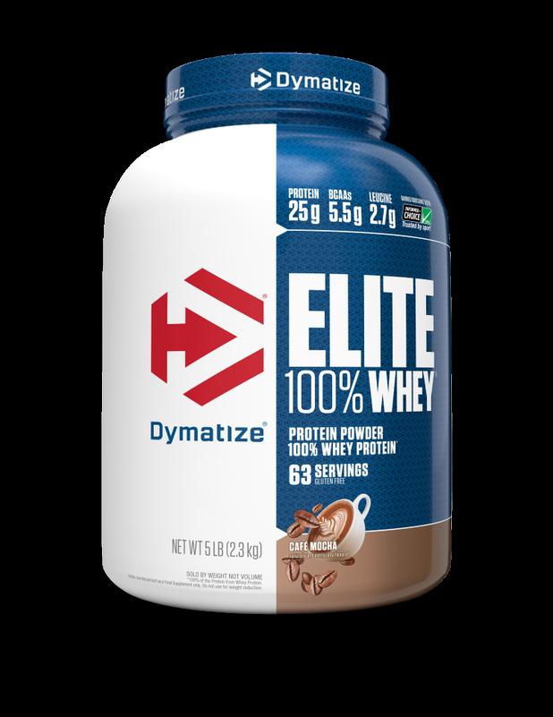"אבקת חלבון דיימטייז עלית 2.3 ק""ג | Dymatize Elite whey Protein"