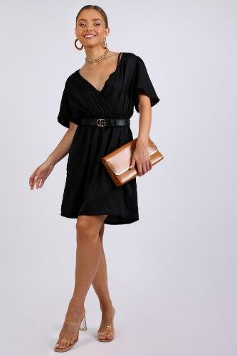 שמלת ערב מעטפה שחור