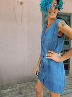 שמלת ג'ינס היסטרית משנות ה-70 מידה M/L