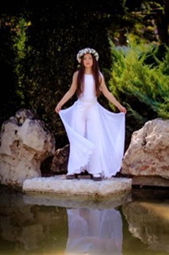 אוברול אנסטסיה עם חצי חצאית