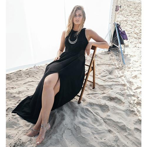 שמלת רומי שחורה קרושה פרחוני