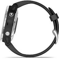 שעון דופק Garmin Fenix 6s Solar Silver with Black Band