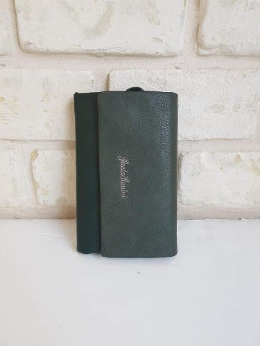 ארנק דמוי עור גדול ירוק1 4055