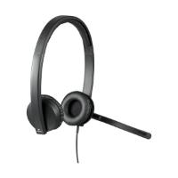אוזניות חוט Logitech STEREO H650 USB
