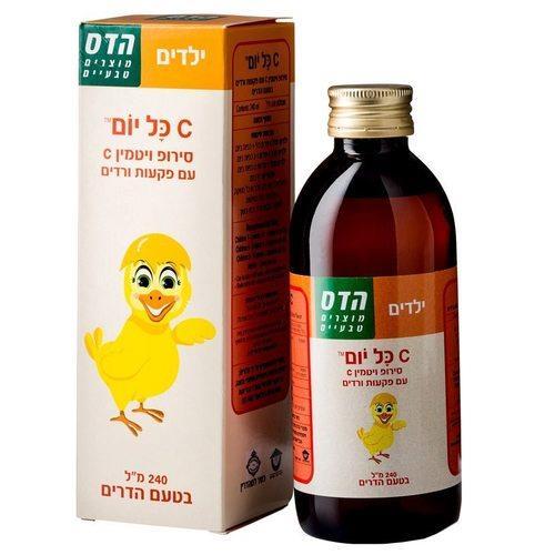 הדס ויטמין C בסירופ לילדים בטעם הדרים 240 מל