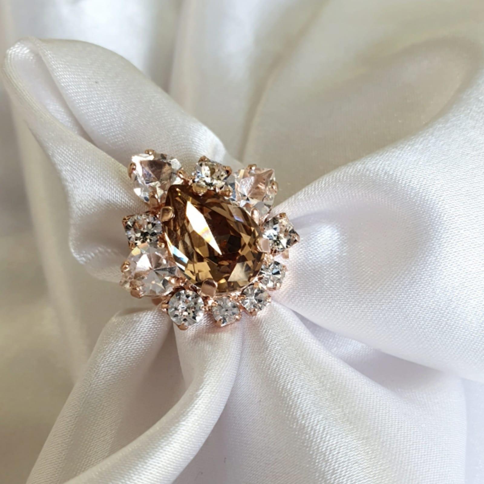 טבעת מרי- רוז זהב אדום