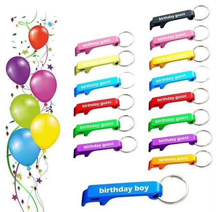 מארז יום הולדת - 15 פותחני בירות עם כיתוב